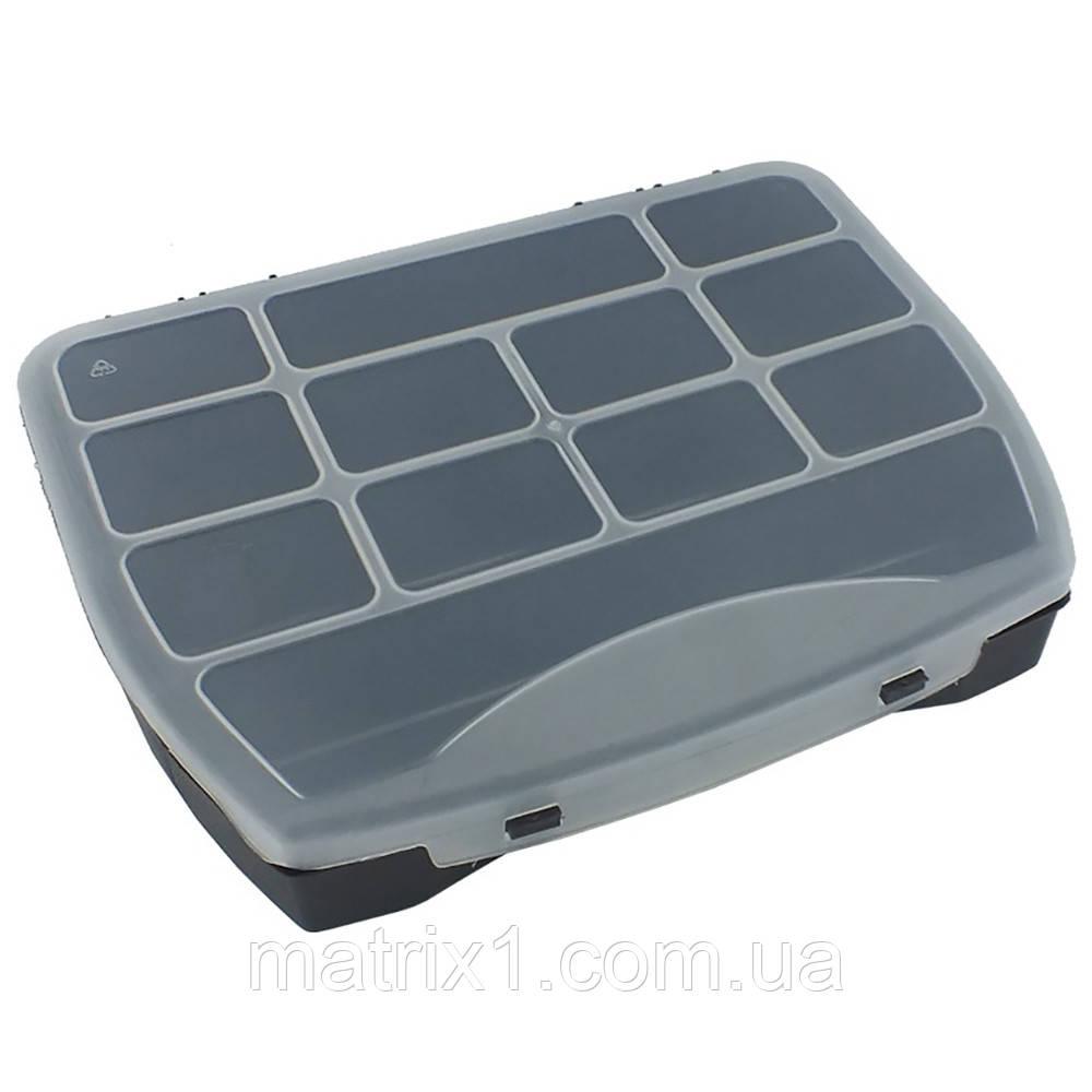Ящик органайзер 190*155*37  мм пластиковый HAISSER Domino 19