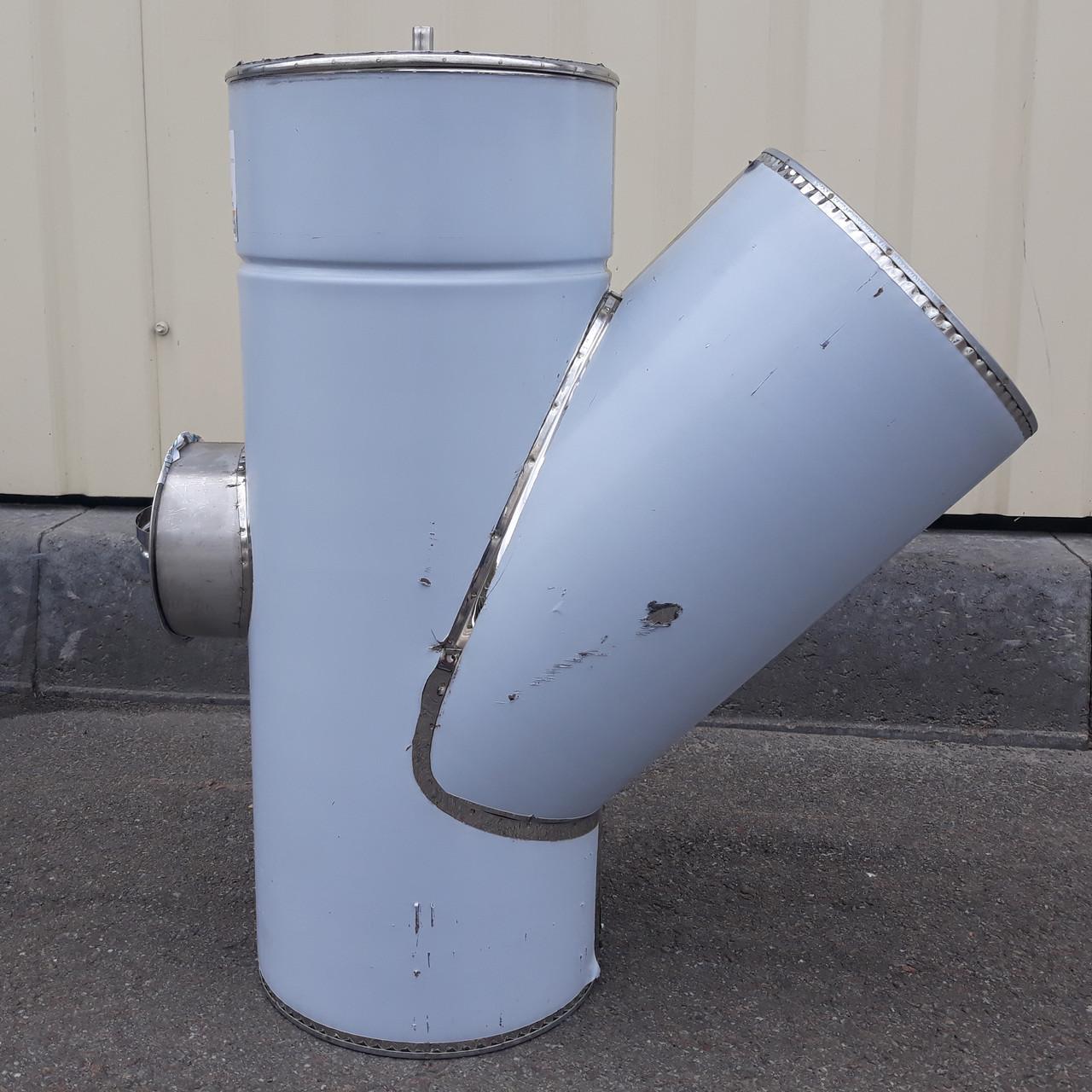 Тройник 45° с ревизией из нержавеющей стали с термоизоляцией нерж/нерж
