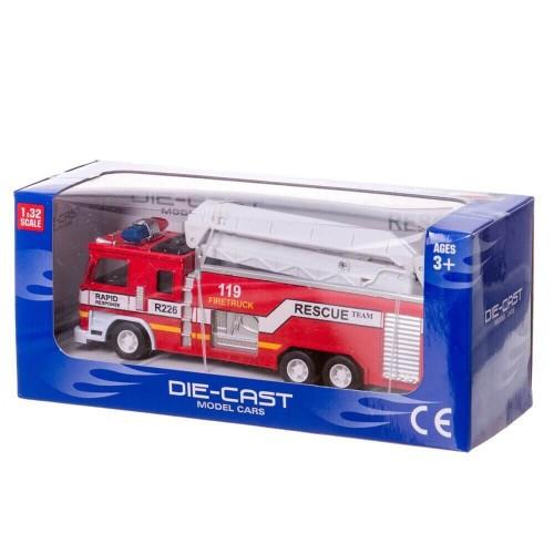 Металлическая инерционная пожарная машина 632-9