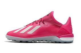 Бутсы сороконожки adidas X Tango 19.1 TF Pink/White