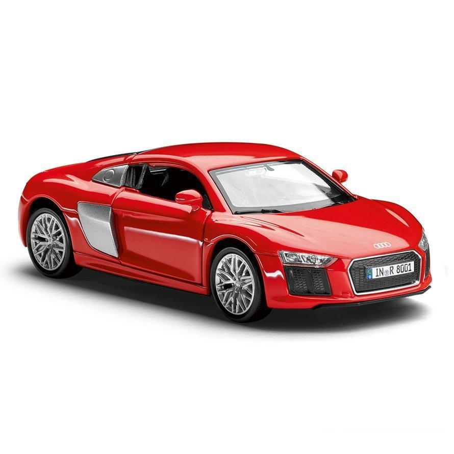 Інерційний автомобіль Audi R8 V10 Pullback, Scale 1:38, Dynamite Red, артикул 3201600110