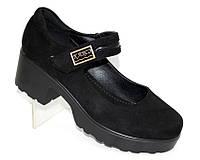 Туфли женские на квадратном каблуке
