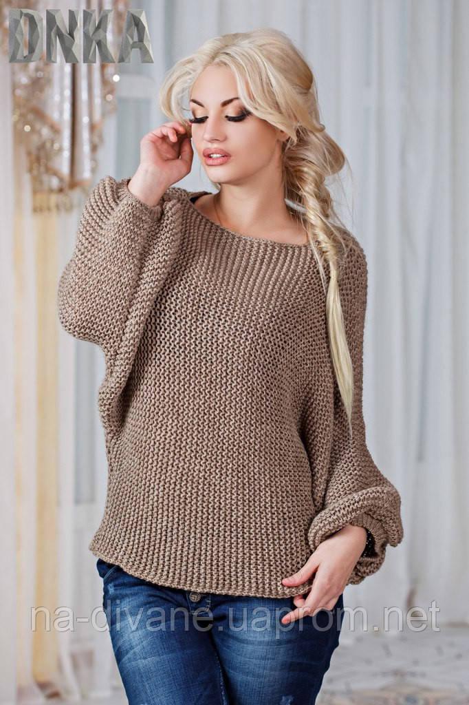 свитер вязаный свободный 2017 дени цена 285 грн купить в