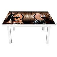 Наклейка на стол Винные бочки (виниловая пленка ПВХ для мебели) вино доски Напитки Коричневый 600*1200 мм, фото 1