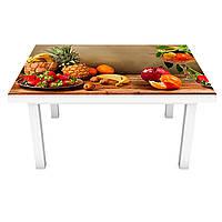 Наклейка на стол Ананасы (виниловая пленка ПВХ для мебели) овощи фрукты Натюрморт Коричневый 600*1200 мм, фото 1