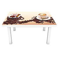 Наклейка на стол Зерна кофе (виниловая пленка ПВХ для мебели) специи чашки Коричневый 600*1200 мм, фото 1
