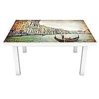 Наклейка на стол Венецианский Канал (виниловая пленка ПВХ для мебели) Венеция Гондола ретро Бежевый 600*1200, фото 1