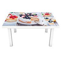 Наклейка на стол Тортик (виниловая пленка ПВХ для мебели) сладости пирожные Еда Бежевый 600*1200 мм, фото 1