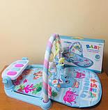 Коврик для младенца 211 73-47, дуга, подвес, пианино-муз, зв, св, проектор, фото 7