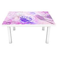 Наклейка на стол Утренние Пионы (виниловая пленка ПВХ для мебели) цветы Розовый 600*1200 мм, фото 1