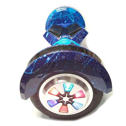 """Гироскутре Smart Balance с подсветкой 8"""" колеса синий космос, фото 2"""