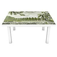 Наклейка на стол Листья (виниловая пленка ПВХ для мебели) ветки деревья природа Зеленый 600*1200 мм, фото 1