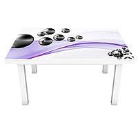 Наклейка на стол Стальные шары 02 (виниловая пленка ПВХ для мебели) Абстракция сферы Фиолетовый 600*1200 мм, фото 1