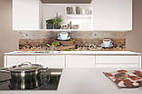 Стеклянный фартук для кухни - скинали Кофе в зернах, чашка кофе, фото 2