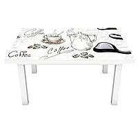 Наклейка на стол Мороженое (виниловая пленка ПВХ для мебели) десерты еда Серый 600*1200 мм, фото 1