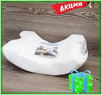 Подушка туннель с памятью Memory Foam Pillow, Ортопедическая подушка, + подарок