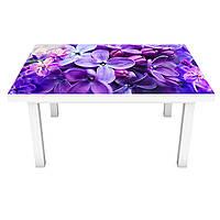 Наклейка на стол Сирень Макро (ПВХ интерьерная пленка для мебели) цветы Фиолетовый 600*1200 мм