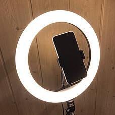 Кольцевая лампа 30 см со штативом 2м лампа для селфи лампа для тик тока, фото 2