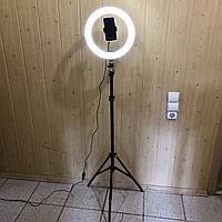 Кольцевая лампа 30 см на штативе 2 метра с держателем для телефона LED подсветкой кольцевая селфи