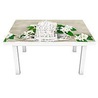 Наклейка на стол Жасмин (ПВХ интерьерная пленка для мебели) цветы букеты Абстракция Бежевый 600*1200 мм, фото 1