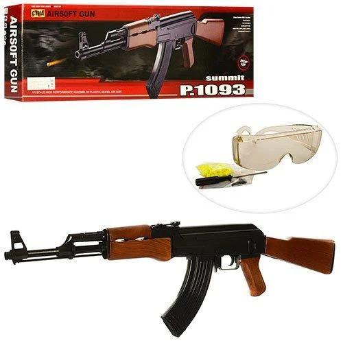 Игрушечный автомат CYMA P.1093 (копия АК-47) с пульками и защитными очками