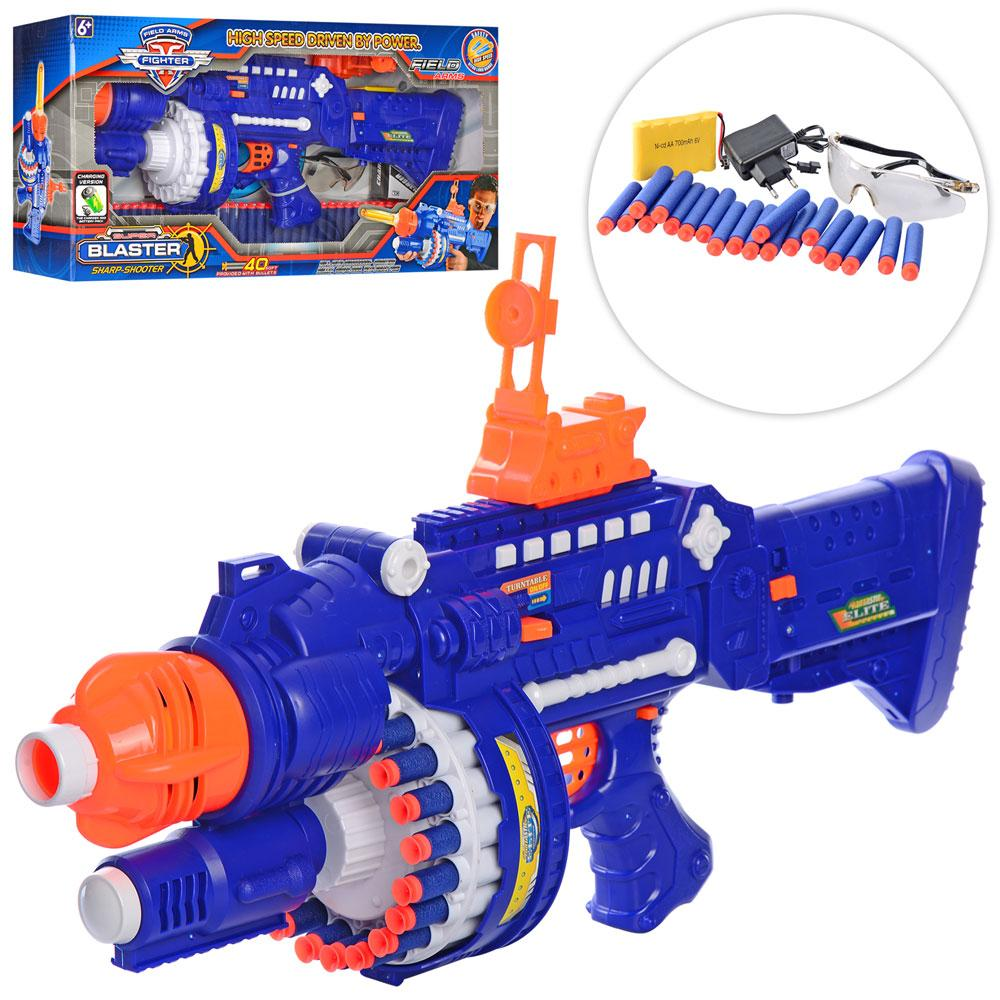 Игрушечный бластер SB250 с мягкими пулями и защитными очками