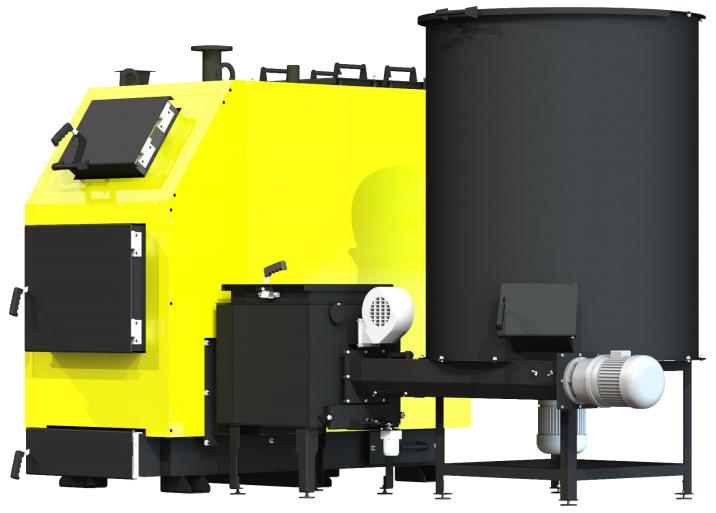 Котел на щепе, опилка, пеллетах Kronas Bio Master 150 кВт с ручной и автоматической подачи топлива