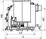 Котел на щепе, опилка, пеллетах Kronas Bio Master 150 кВт с ручной и автоматической подачи топлива, фото 3