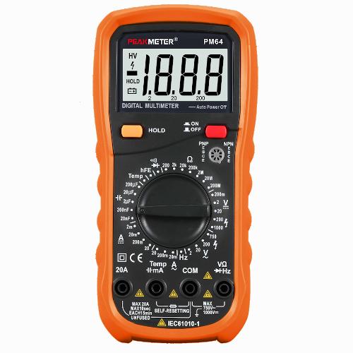 Цифровий мультиметр, універсальний мультиметр, мультиметр з термопарою PM64 PROTESTER