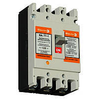 Автоматический выключатель ElectrO ВА77-1-125 3 полюси  025А 10In (8-12In) Icu 35кА Ics 22кА 400В