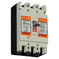 Автоматический выключатель ElectrO ВА77-1-125 3 полюса  100А 10In (8-12In) Icu 35кА  Ics 22кА 400В