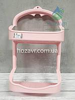 Полка навесная в ванную комнату Zambak Plastik, светло- розовая