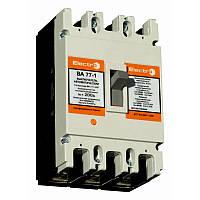 Автоматический выключатель ElectrO ВА77-1-250 3 полюси 100А 10In (8-12In) Icu 35кА  Ics 22кА 400В
