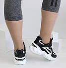 Женские кроссовки на высокой подошве черно-белого цвета JIN LI MEI, фото 3
