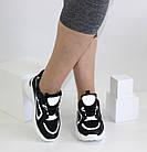Женские кроссовки на высокой подошве черно-белого цвета JIN LI MEI, фото 2