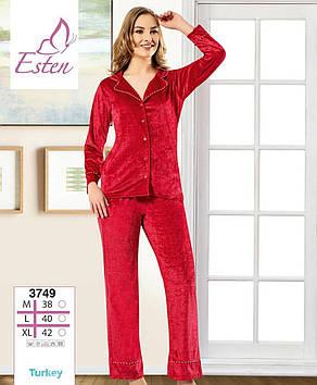 Красная бархатная женская пижама Miss Duhya Lissa Турция