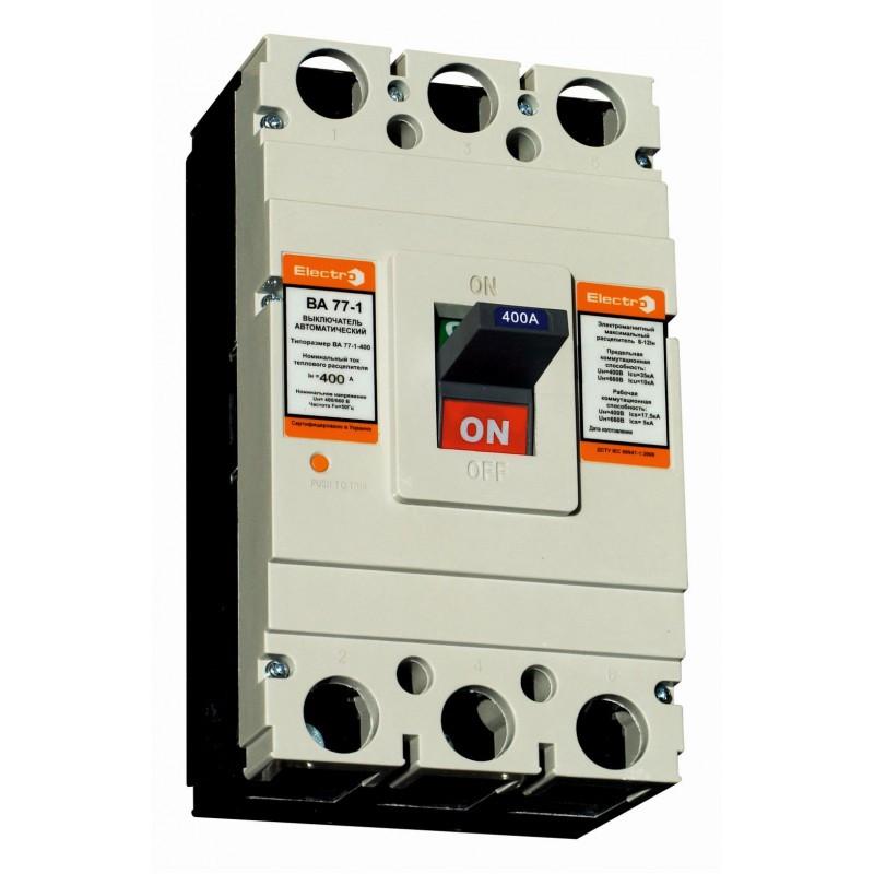 Автоматический выключатель ElectrO ВА77-1-400 3 полюси 300А 10In (8-12In) Icu 50кА  Ics 35кА 400В