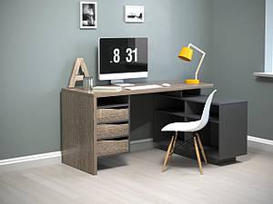 """Кутовий комп'ютерний стіл """"Connect 3"""" від Intarsio"""