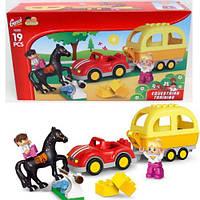 Конструктор для самых маленьких детей Gorock с лошадкой, машинкой и фигурками арт.1039
