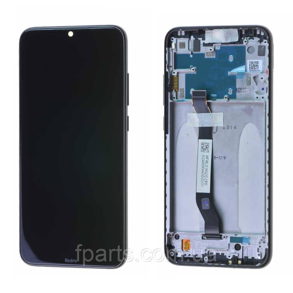 Дисплей для Xiaomi Redmi Note 8 (M1908C3JG) с тачскрином, в рамке, Black