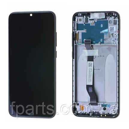 Дисплей для Xiaomi Redmi Note 8 (M1908C3JG) с тачскрином, в рамке, Black, фото 2