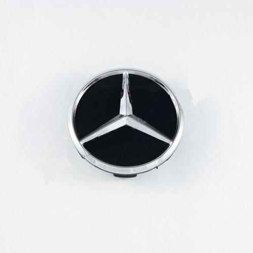 Ковпачок для диска Mercedes-Benz чорний глянець (60 мм)