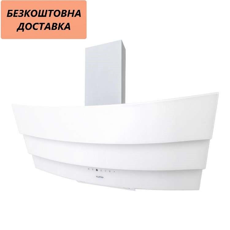 Витяжка Ventolux RIALTO 90 WH (1000) TRC IT Похила Біла Скло