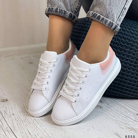 Кросівки жіночі білі з еко шкіри. Кросівки жіночі білі, фото 2