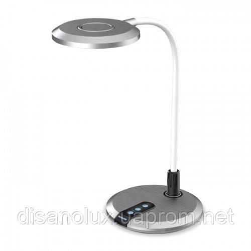 Настольный светодиодный светильник Feron DE1731 8вт Серебро