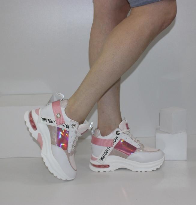 Кросівки жіночі на прихованій танкетці Снікерси Arianna