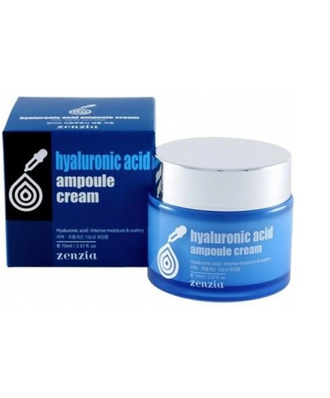 Увлажняющий ампульный крем для лица с гиалуроновой кислотой Zenzia Hyaluronic Acid Ampoule Cream 70 мл