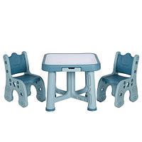 """Детский функциональный столик POPPET """"Монохром"""" и два стульчика"""