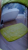 Коврик в ванну хлопковый зеленый 45х70