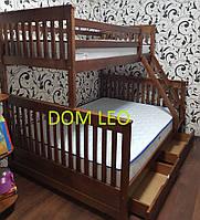 Двухъярусная кровать Олигарх Люкс 140